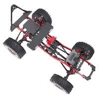 313mm Wheelbase 1/10 RC Car Frame Kit Metal RC Car Shell for AXIAL SCX10 Crawler Climbing Car DIY RC Accessories