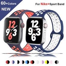 Pulseira de silicone para apple relógio banda 44mm 40mm iwatch banda 42mm 38mm pulseira esporte inteligente applewatch série 6 5 4 3 se