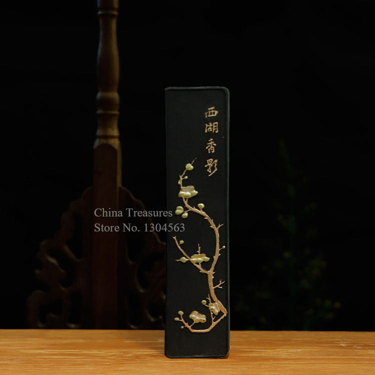 Traditional Chinese Solid Ink Stick Sumi-e Ink Inkstick Calligraphy Painting Pine Soot Ink Hui Mo Song Yan Black Color