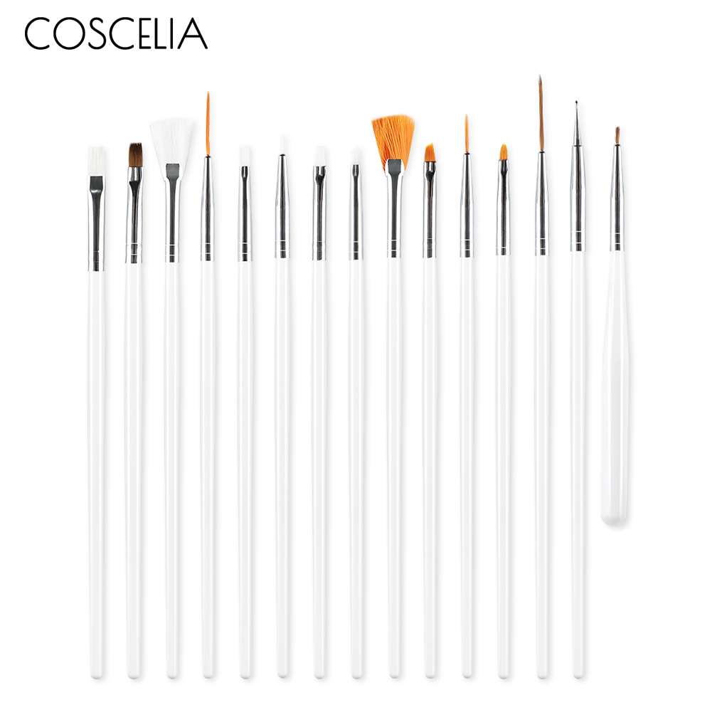 COSCELIA Nail Brush For Manicure Tools Clear For Nails Nail Art Brush For Gradient For Gel Nail Polish Painting Drawing