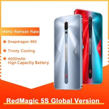 Перейти на Алиэкспресс и купить Глобальная версия Nubia красный Магия 5S игровой смартфон 8 ГБ 128 рамка Redmagic 5S 5G игровой мобильный телефон Snapdragon 865 телефон NFC 2020