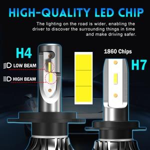 Image 3 - BraveWay 12000LM 2nd CSP Led Lamp H4 H7 H1 H11 HB3 HB4 9005 9006 Led Headlight Car Led Bulb H4 Headlight for Cars Auto Led Light