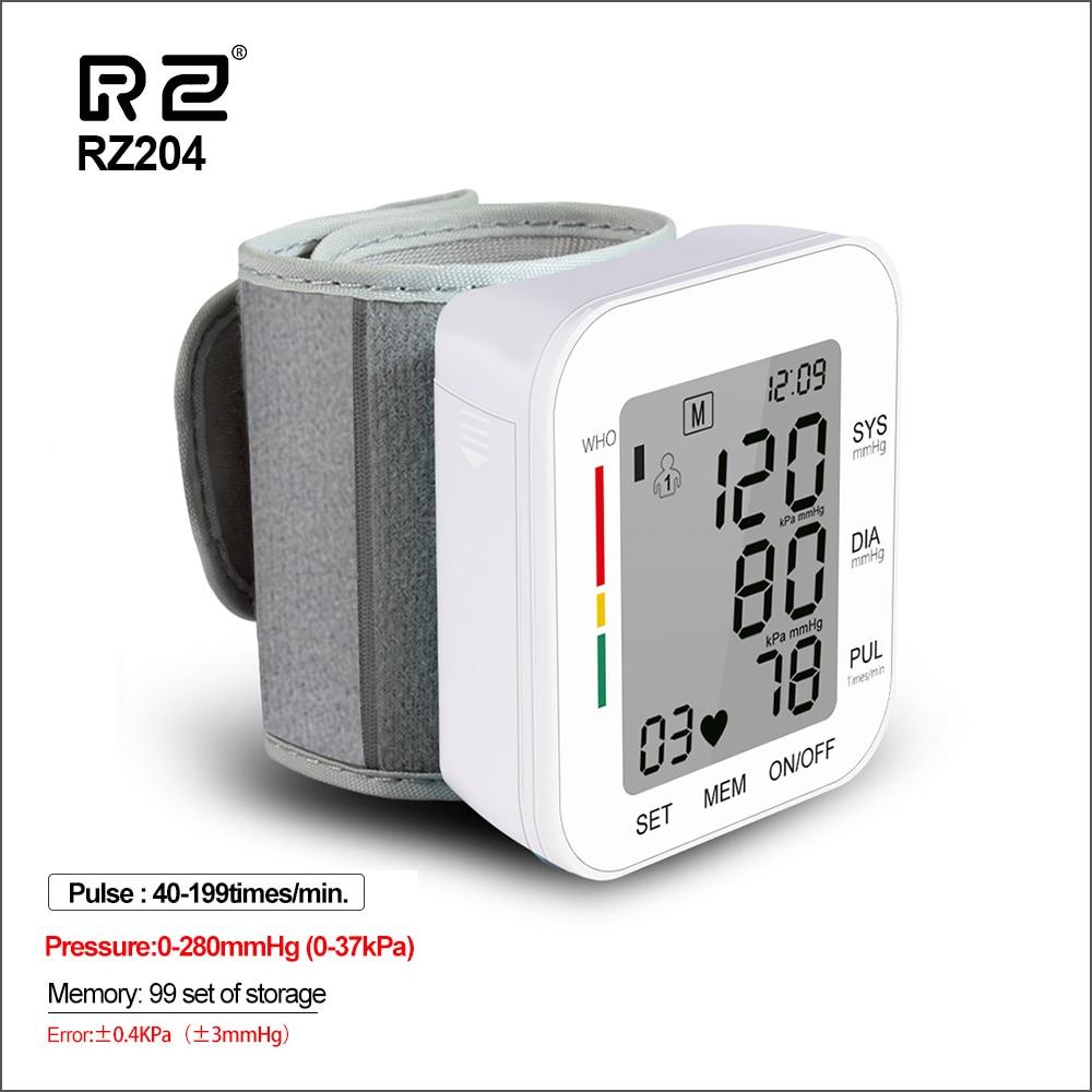 RZ Digital Wrist Blood Pressure Monitor Pulse Rate Heart Beat Rate Meter Device Medical Equipment Tonometer BP Sphygmomanometer