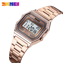 SKMEI NEW Fashion Women Watch Digital Watches 30M Waterproof Week Display Alarm Clock Wristwatch Relogio Feminino 1474