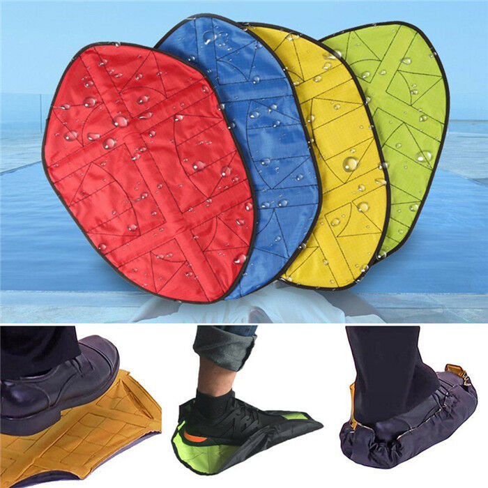 Waterproof Reusable Shoe Cover Step In Sock Portable Auto-Package Overshoes Shoe Covers