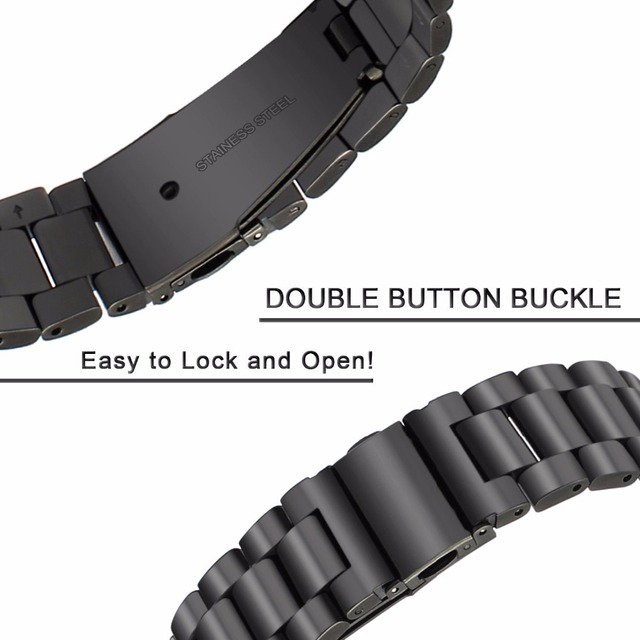 18mm 22mm 20mm 24mm Band Strap For Samsung Galaxy Watch 3 42 46mm gear S3 Active2 Steel for Huawei GT 2 Xiaomi Amazfit BIP GTR 2 3