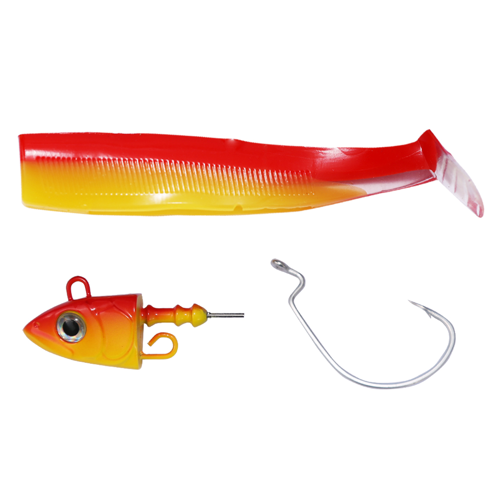 ALI shop ...  ... 4000201077503 ... 4 ... Hunthouse fishing lure black minnow savsge gear soft shad muskies 100mm 25g fishing baits pike lure lead jig head bass souple ...