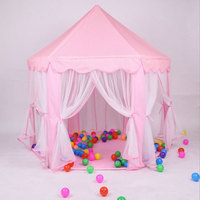 Kids Girl Tent Toy Ball Pool Princess Girl's Castle Play House Kids Small House Folding Playtent Baby Beach Tent