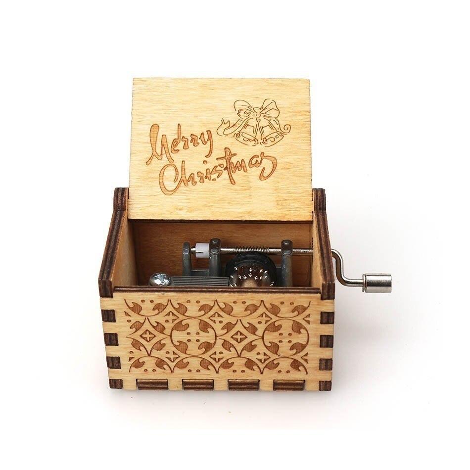 Античная Деревянная рукоятка новая резная королева музыкальная шкатулка Рождественский подарок на день рождения вечерние украшения - Color: 4