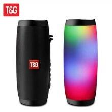 Tg157 alto-falante sem fio bluetooth alto-falante portátil bluetooth poderoso alto boombox baixo ao ar livre de alta fidelidade tf rádio fm com luz led