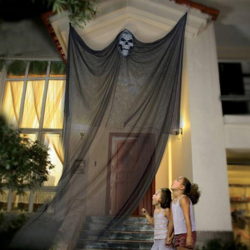 Hc598b01c51cc48c29cd99528047a2fe1z - 3.3M Long Halloween Hanging Skeleton Flying Ghost Decorations For Outdoor Indoor Party Bar Scary Props Halloween Decoration