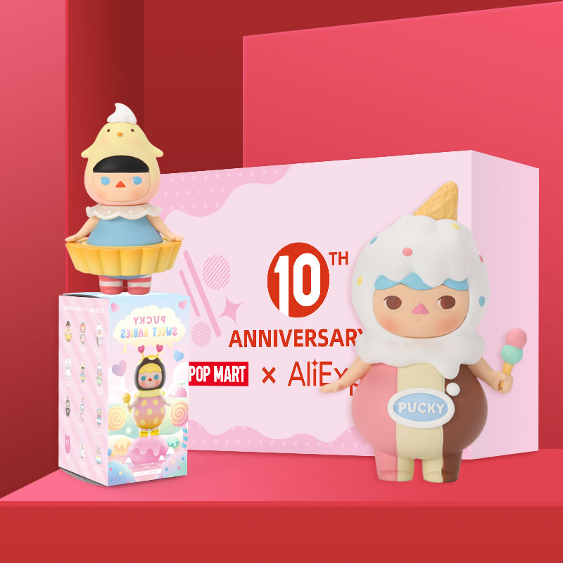 POPMART Pucky Sweet Babies Blind Box Collection Doll Collectible Cute Action Kawaii Figure Gift Kid Toy Free Shipping 3.28 Sale