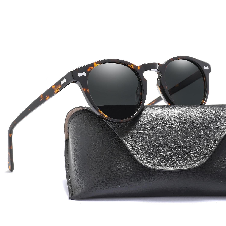 Cubojue Men's Polarized Sunglasses Women Small Round Sun