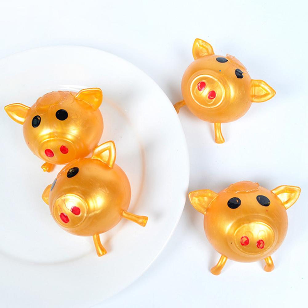 4/8Pcs Pig Shaped Anti Stress Reliever Squeezes Ball Funny Play Kids Adult Toy Squeeze Pinch Toy Phone Straps Accessories