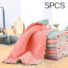 5 шт/лот домашние полотенца из микрофибры для кухни впитывающая