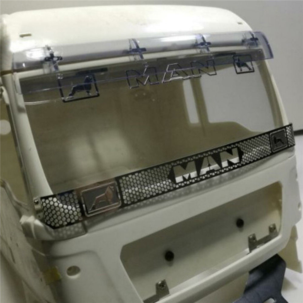 Metal Explosion Protection Mesh Front Grille for <font><b>1/14</b></font> <font><b>Tamiya</b></font> Man 540 56325 <font><b>RC</b></font> <font><b>Truck</b></font> Tractor Trailer Parts Accessories image