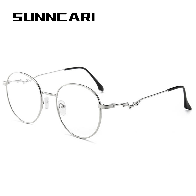 High quality 2020 Korean brand design Fashion Round Women Glasses Frame Transparent Clear Lens Spectacle Eyeglasses Frame Glass image