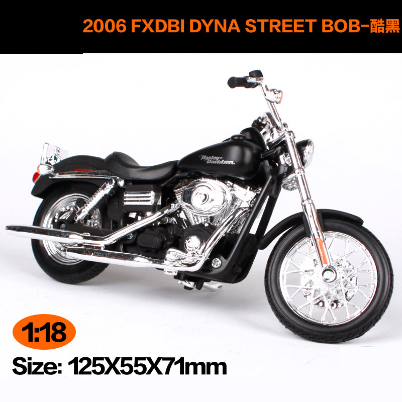 Maisto 1:18 Harley Davidson 2006FXDBI DYNA STREET BOB Motorcycle Metal Model Toys For Children Birthday Gift Toys Collection