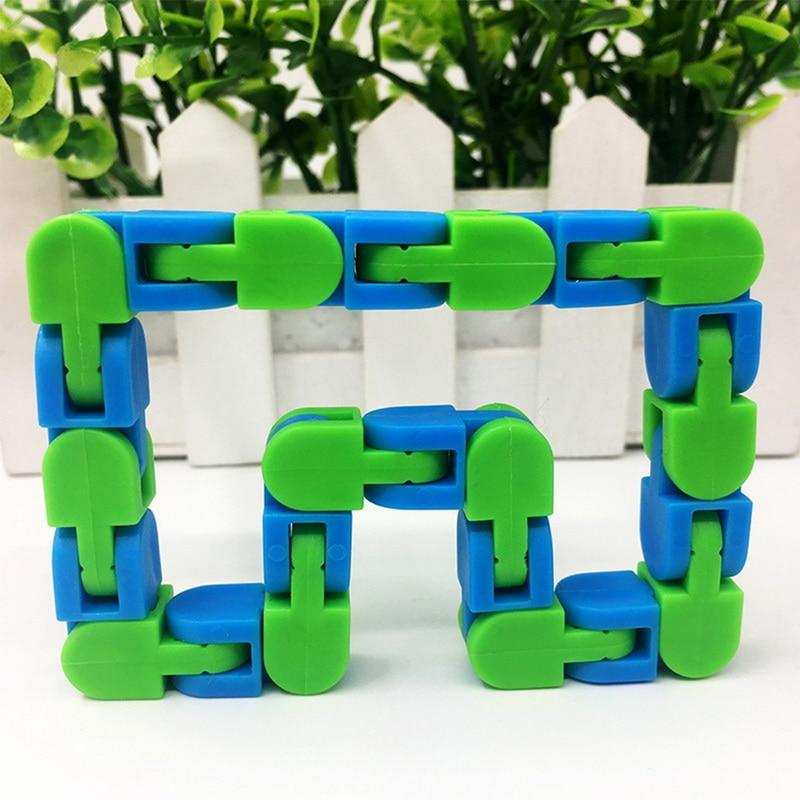 Toy Bracelet Chain Fidget-Toys Spinner Snake Anti-Stress Adult Children for Kids Puzzle img4