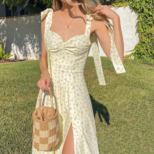 Floral Dress Sleeveless Strap Robe Longue Maxi For Women Femme Vestido De La Correa Lange Mouw Jurk Manga Fleurie Sundresses 3