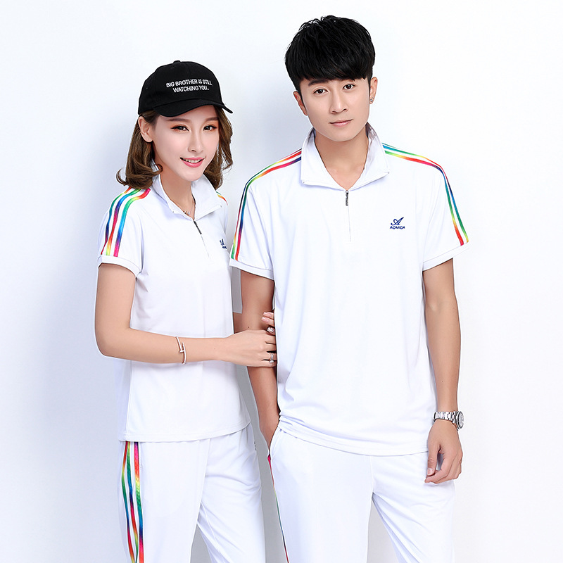 Summer ao mi da New Style Dream Team Short Sleeve T shirt Men And Women Square Dance Fitness Exercise Sports Clothing Groups Cos