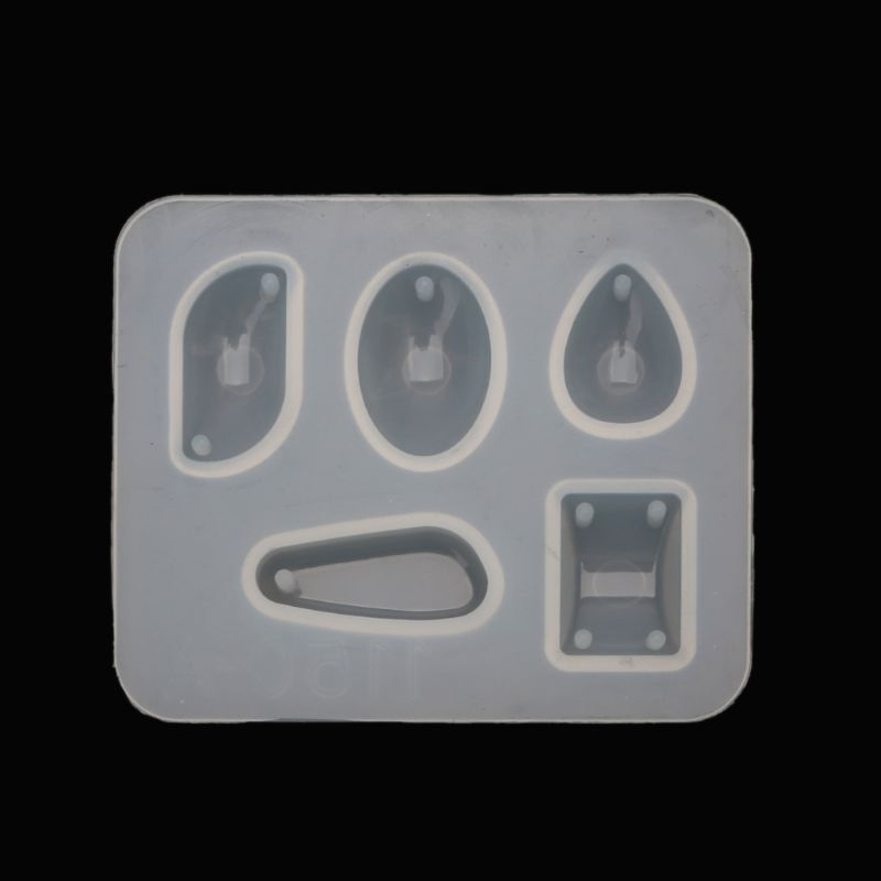 Jewelry UV Epoxy Mold Squrare Teardrop Oval Irregular Shape Gemstone Pendant Resin Mold Jewelry Making Accessories