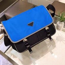 blue nylon messenger bag men