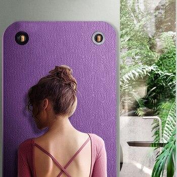 183*61cm*6mm Yoga mat TPE Non Slip Mat Blanket Fitness Exercise Pilates Workout Indoor Easy Carry Hangable Training Mats