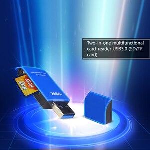 Image 3 - SSK USB 3.0 2 في 1 قارئ بطاقات عالية السرعة USB 3.0 SD/ Micro SD/SDXC/TF/T Flash ذاكرة محوّل قارئ البطاقات SCRM331