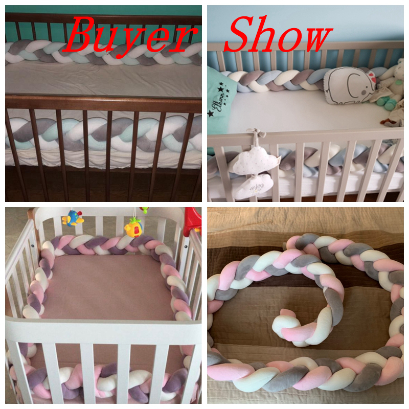 3 Meter Mixed Color Braided Crib Protector- Nursery Decor Best Children's Lighting & Home Decor Online Store