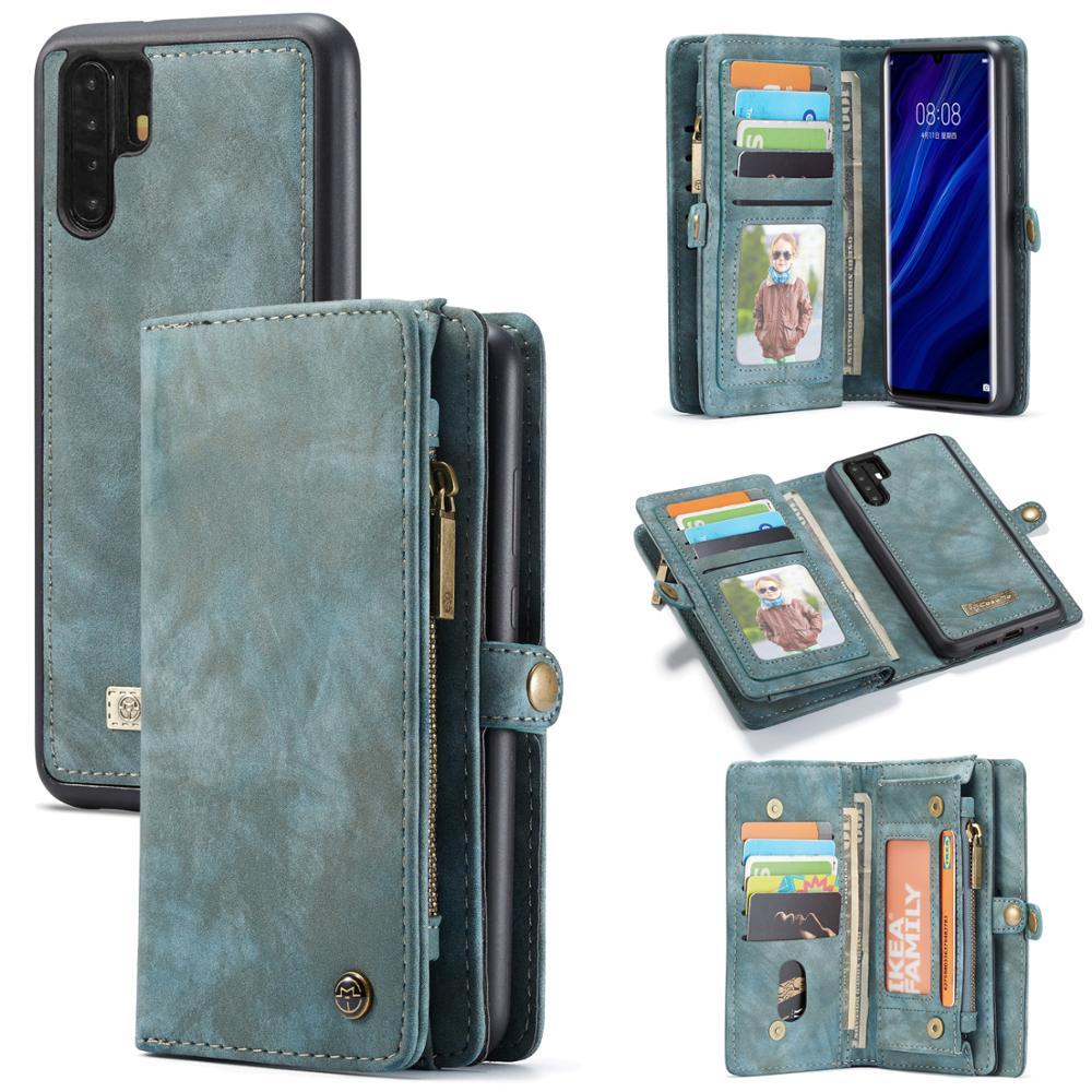 Phone Case For Huawei P30 Pro P20 Lite Leather Soft TPU Multifunction Stand Magnetic Flip Wallet Cover For Huawei Mate 20 Pro