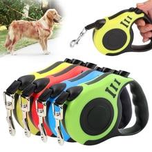 3 м/5 м прочные машина ля стрижки домашних животных собак нейлоновый поводок, поводок для собак, для бега поводки для собак, автоматические вытяжные собачьи поводки светоотражающая лента поводок для собак длиной