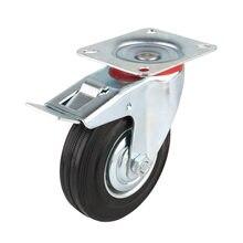 4pcs 75mm Heavy Duty 200kg Swivel Castor Wheels Trolley Furniture Chair Casters Rubber Brake Trolley Wheel ruedas para mueble