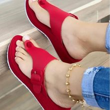 New Women Wedges Sandals Summer Casual Muffin Slip on Platform Flip Flops Ladies Sandals Party Peep Toe Sandals Sandalias Mujer