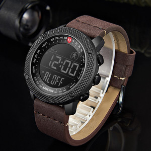 Image 5 - KADEMAN 2019 Luxury Sport Mens Watches Steps Counter LED Digital Watch 3ATM Fashion Designer Casual Leather Wristwatches Relogio