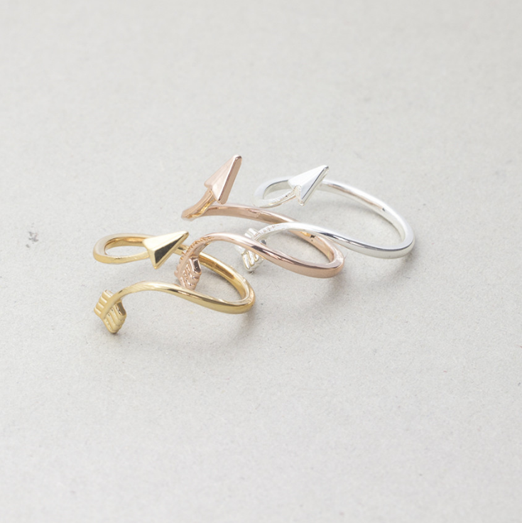 Arrow Design Women Ring Fashion Finger Ring  Jewelry Gift  MAMADXJZ