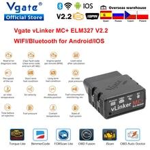 Vgate vLinker MC ELM327 Bluetooth 4.0 OBD 2 OBD2 Scanner WIFI per BimmerCode FORScan per Android/IOS PK OBDLINK ELM 327 V 1 5