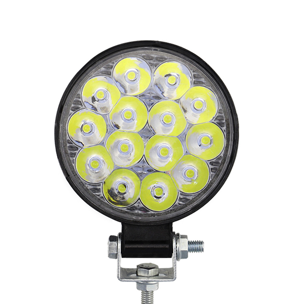 Car Truck 42W 6500K 12V 24V Round LED Work Spot Light Flood Bulb Driving Lamp