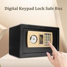 Цифровой депозитарный Сейф для драгоценностей, золотой электронный пароль, сейф для безопасности, для защиты от огня, 310x200x200мм