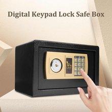 Digital depository gota caixa de dinheiro cofre jóias ouro senha eletrônica cofre segurança para prova fogo 310x200x200mm