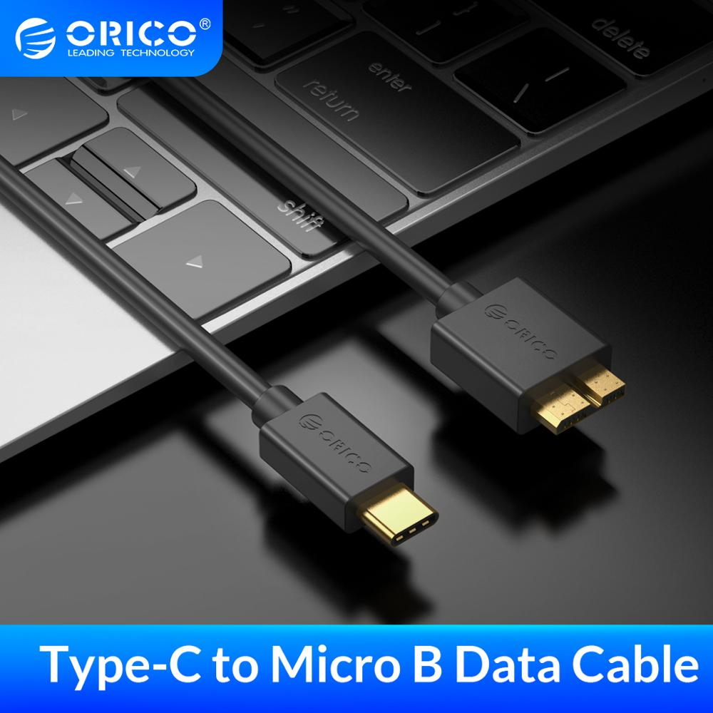 ORICO Type-c To Micro B Data Cable USB 3.0 High Speed Sync Cord 0.5/1/1.5/2m For HDD Enclosure USB-C Hard Drive