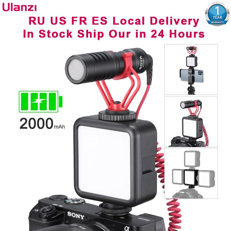 Ulanzi VL 49 Ultra Bright 6W Vlog Mini LED Video Light Bulit in Battery 2000mAh CRI 95 Dimmable Fill Light Photography Lighting Photographic Lighting  - AliExpress