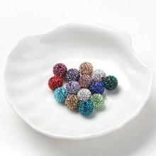 Perles de strass en argile Shambala de 10mm, 10 pièces de haute qualité pour la fabrication de bijoux, accessoires de bricolage