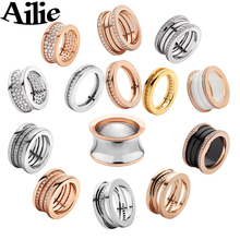 Ailie high quality fit Bulgaria 925 sterling silver couple ring brand design ladies trendy fashion luxury jewelry wedding gift