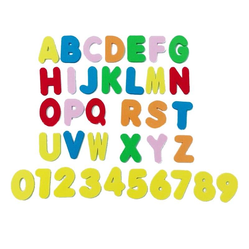 CYSINCOS Baby Reading And Writing Toys Kindergarten Foam EVA26 English Letters + 10 Figures Bath Puzzle Literacy Random Color