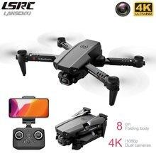 2020 novo mini zangão 4k 1080p hd câmera wifi fpv altura de pressão ar manutenção portátil dobrável quadrotor dron crianças brinquedo