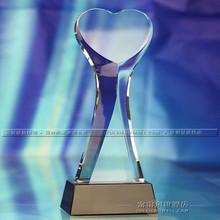Crystal Charity Club Heart-shaped Trophy Good Man Award High-end Gifts,Crafts and Souvenirs,Free Shipping!