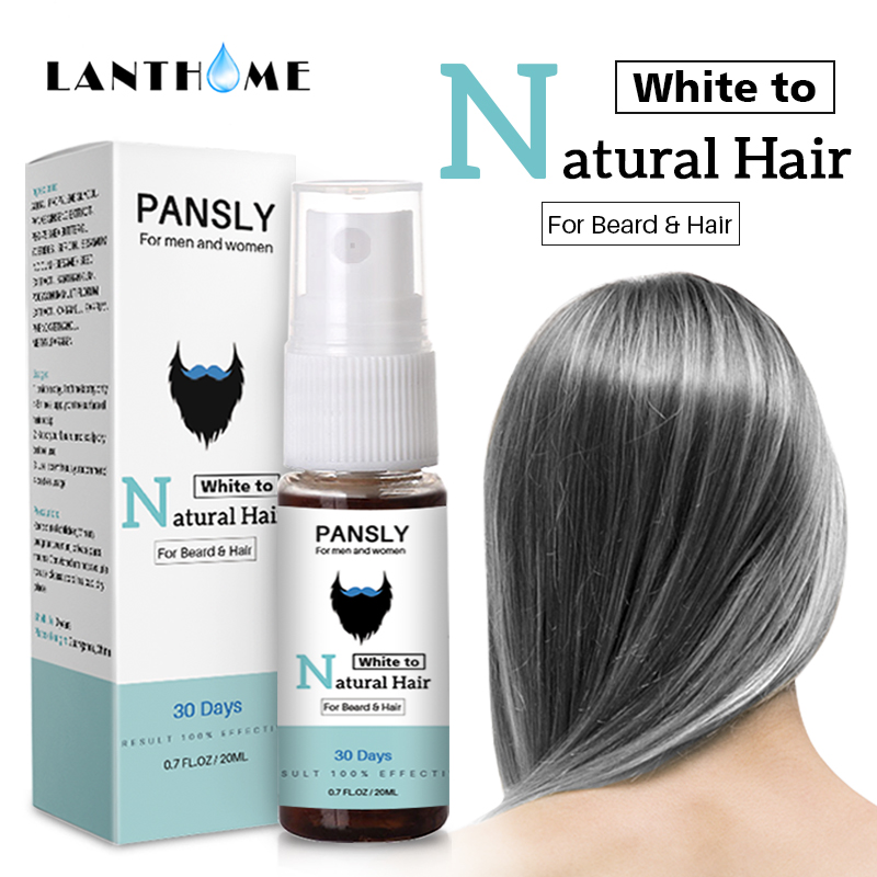 3pc Magical Herbal Cure White Hair Treatment Spray 20ML Remedies Change White Gray Hair To Black Permanently In 30 Days Natural 2