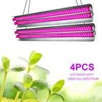 4pcs 실내 LED 성장 빛 스트립 식물에 대 한 100W Phyto 램프 전체 스펙트럼 Fitolampy 성장 텐트 T5 램프 꽃에 대 한 램프를 성장