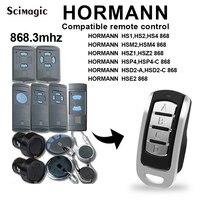 4 canais hormann 868 mhz portão da garagem abridor compatível com hormann hsm2 hs2 hs2 hs4 868 mhz porta de controle remoto comando